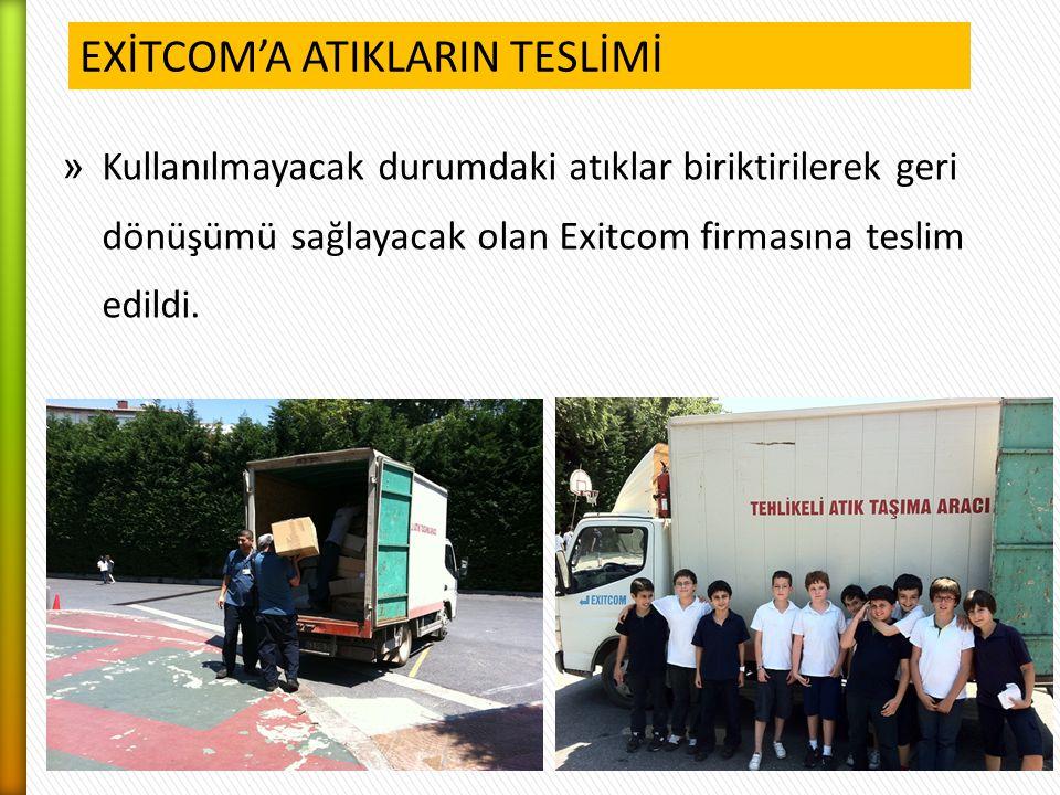EXİTCOM'A ATIKLARIN TESLİMİ
