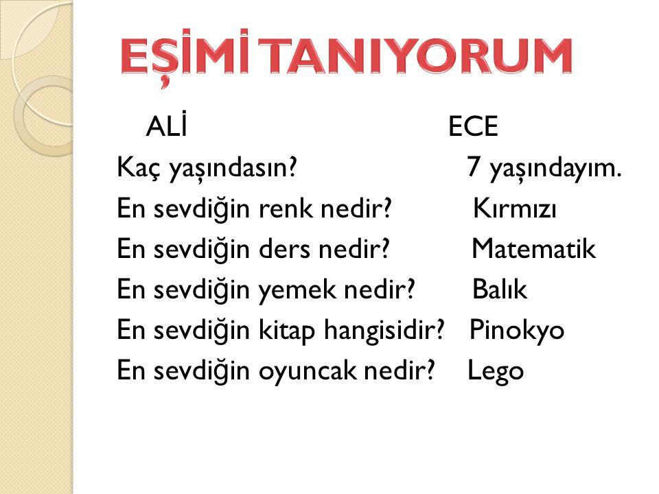 EŞİMİ TANIYORUM
