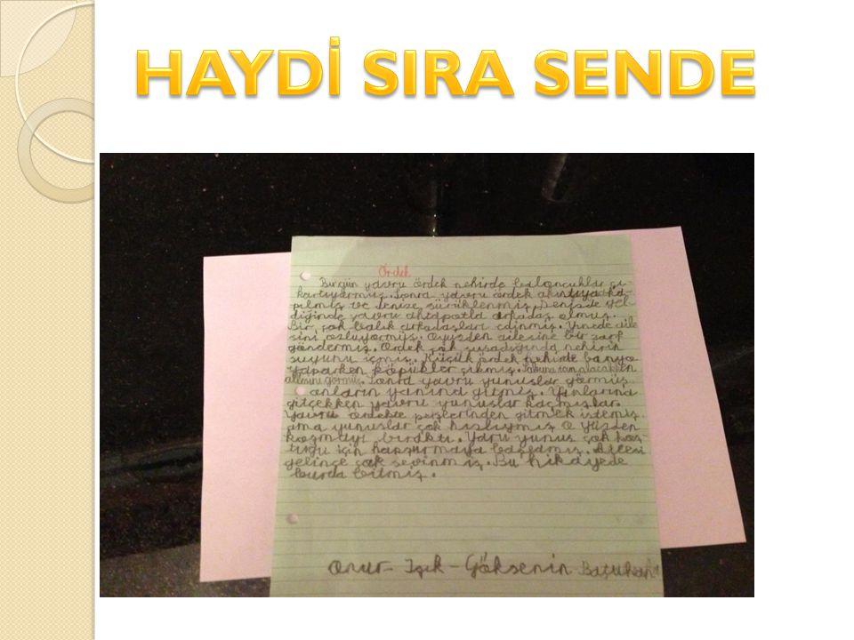 HAYDİ SIRA SENDE