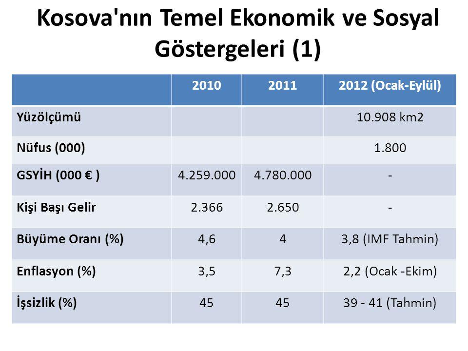 Kosova nın Temel Ekonomik ve Sosyal Göstergeleri (1)