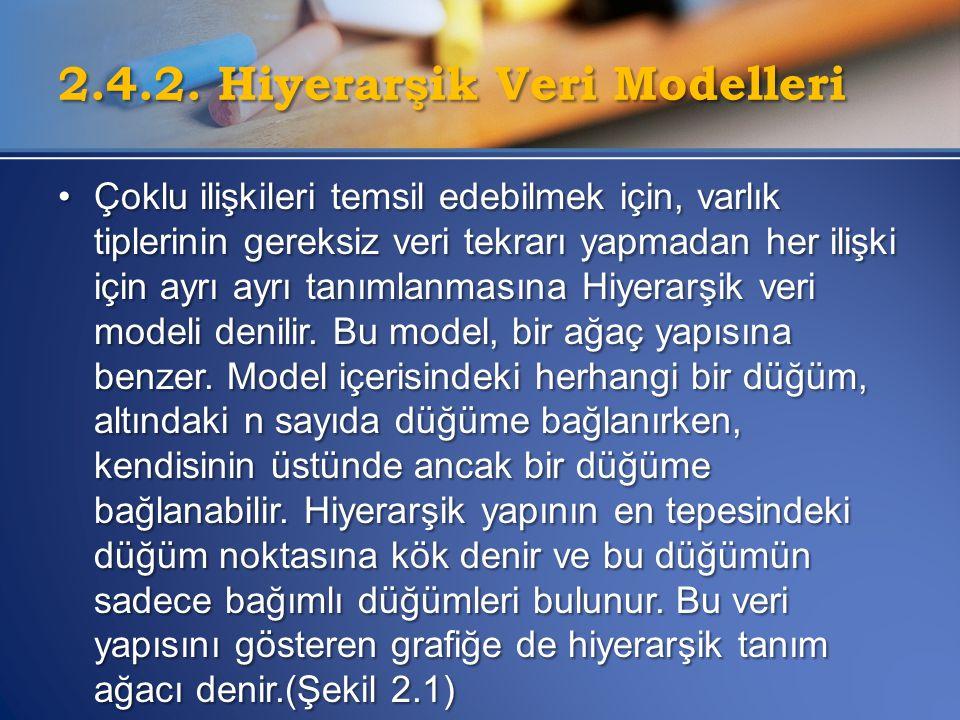 2.4.2. Hiyerarşik Veri Modelleri