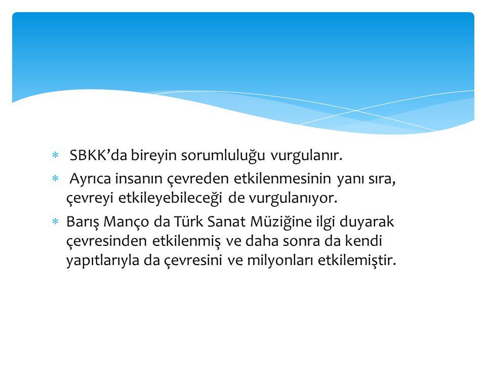 SBKK'da bireyin sorumluluğu vurgulanır.