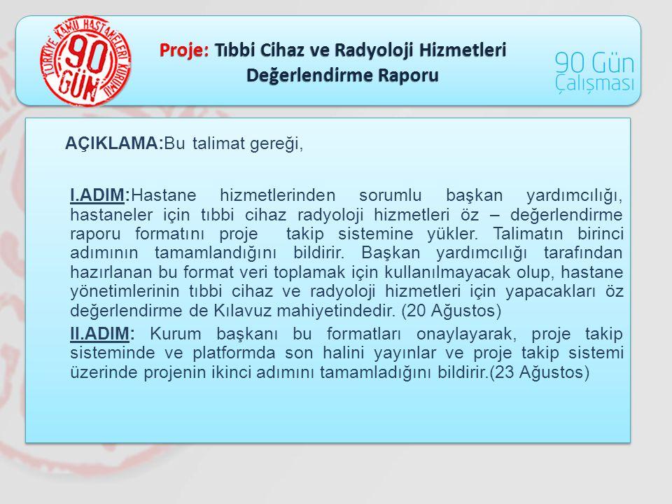 Proje: Tıbbi Cihaz ve Radyoloji Hizmetleri