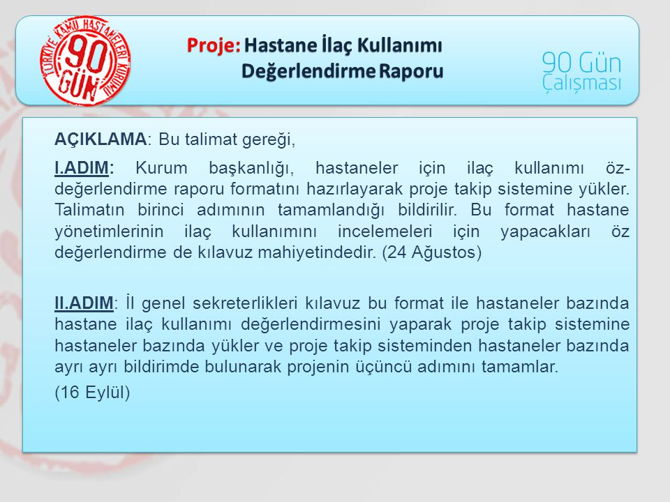 Proje: Hastane İlaç Kullanımı