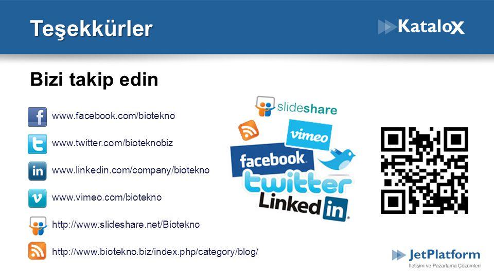Teşekkürler Bizi takip edin www.facebook.com/biotekno