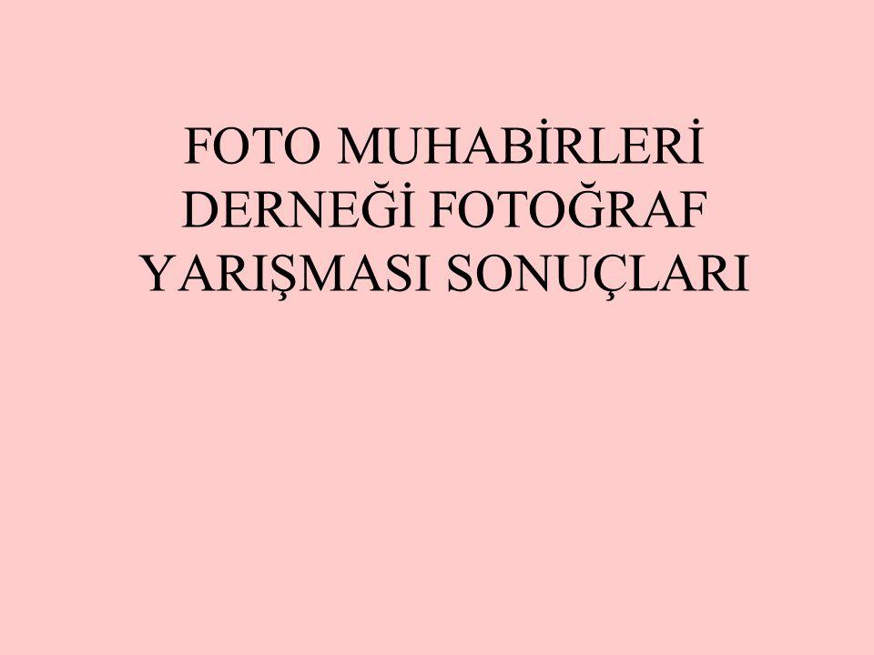 FOTO MUHABİRLERİ DERNEĞİ FOTOĞRAF YARIŞMASI SONUÇLARI