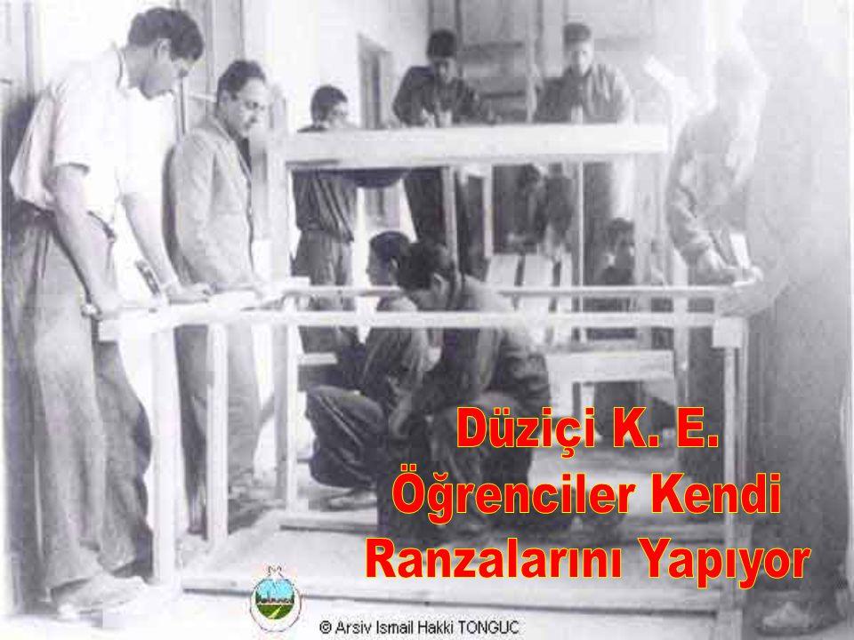 Düziçi K. E. Öğrenciler Kendi Ranzalarını Yapıyor