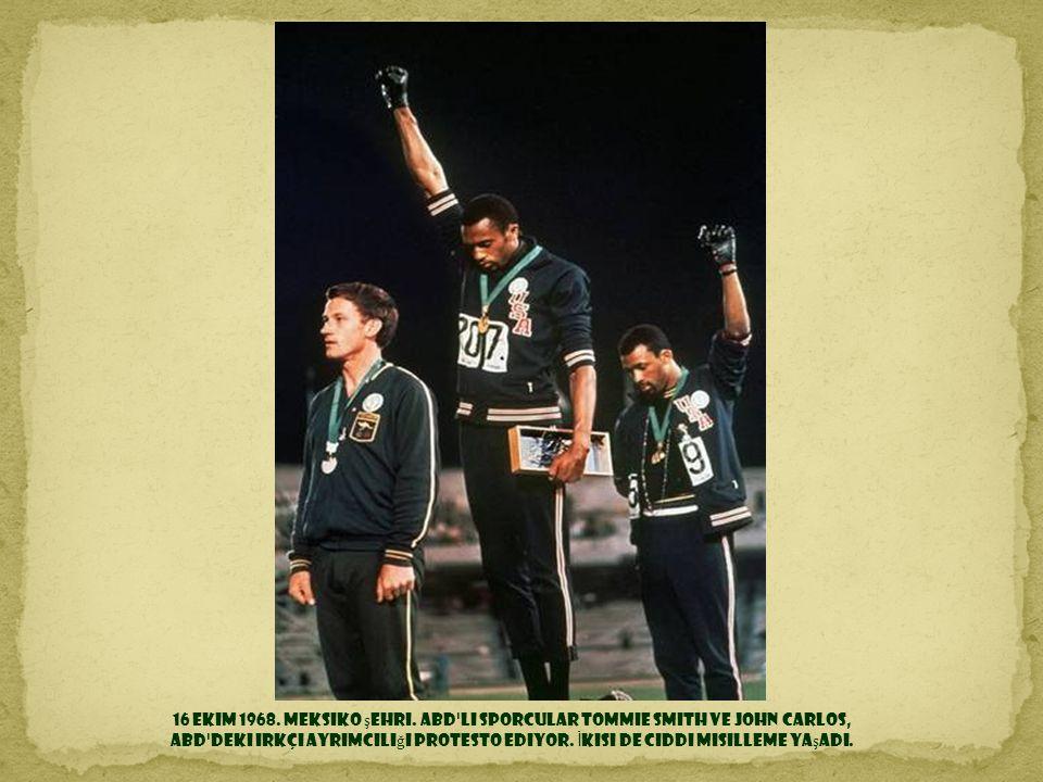 16 Ekim 1968. Meksiko şehri.
