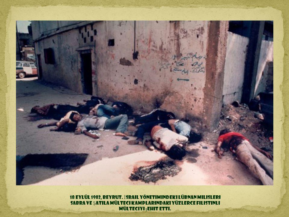 18 Eylül 1982, Beyrut.