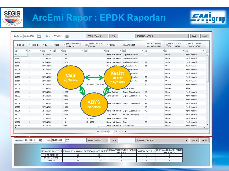 ArcEmi Rapor : EPDK Raporları