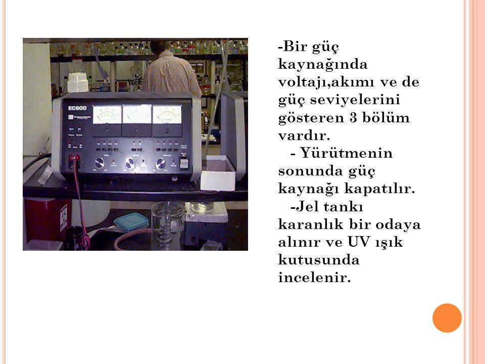-Bir güç kaynağında voltajı,akımı ve de güç seviyelerini gösteren 3 bölüm vardır.