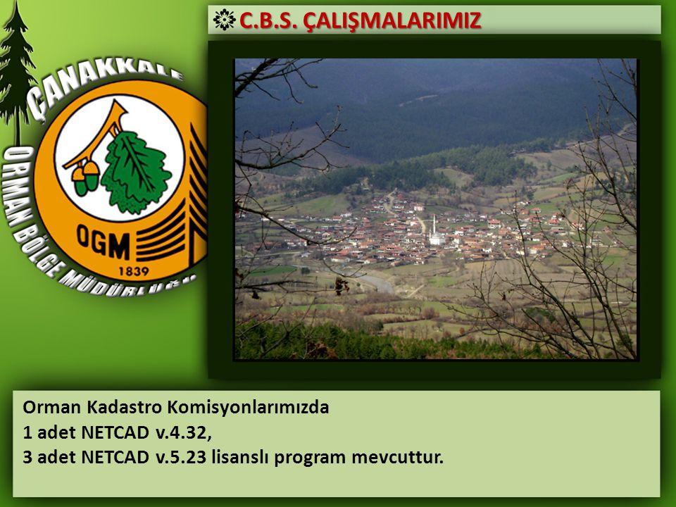 C.B.S. ÇALIŞMALARIMIZ Orman Kadastro Komisyonlarımızda