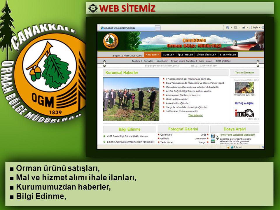 WEB SİTEMİZ ■ Orman ürünü satışları,