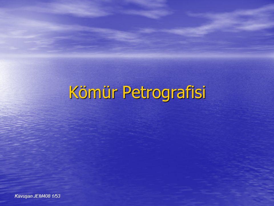 Kömür Petrografisi Kavuşan JEM408 1/53