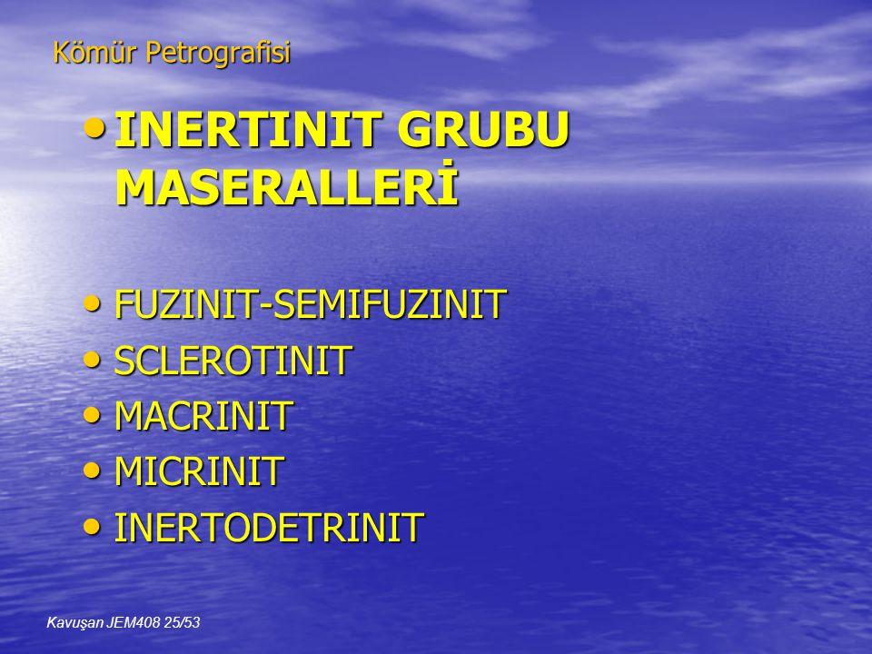 INERTINIT GRUBU MASERALLERİ