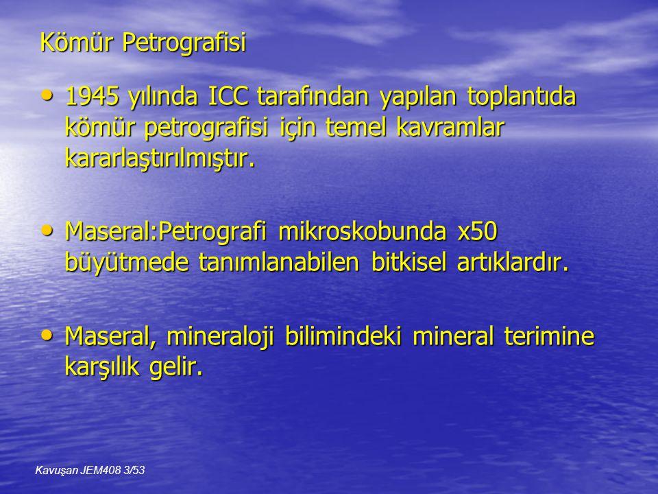 Maseral, mineraloji bilimindeki mineral terimine karşılık gelir.