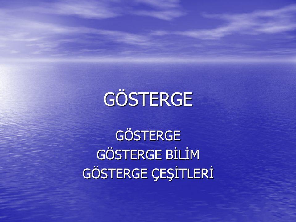 GÖSTERGE GÖSTERGE BİLİM GÖSTERGE ÇEŞİTLERİ