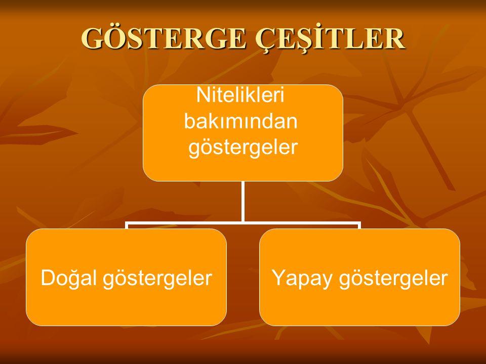 GÖSTERGE ÇEŞİTLER