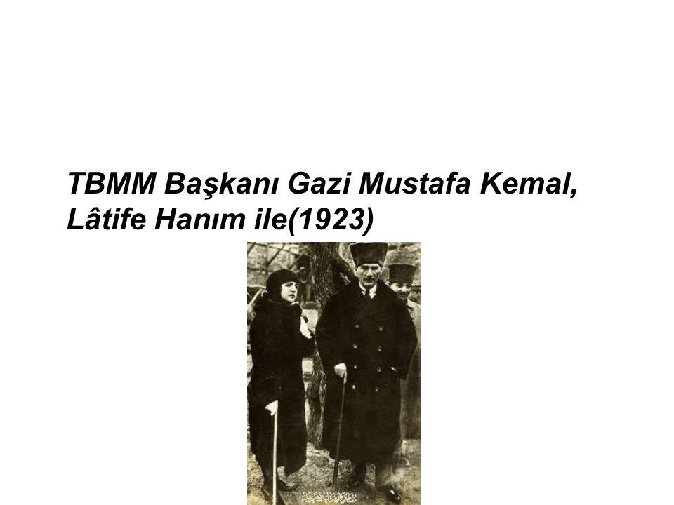 TBMM Başkanı Gazi Mustafa Kemal, Lâtife Hanım ile(1923)