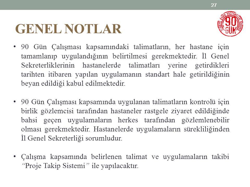 GENEL NOTLAR