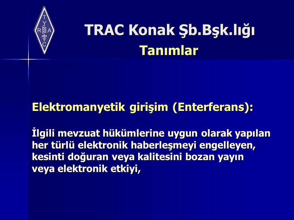 Tanımlar Elektromanyetik girişim (Enterferans):