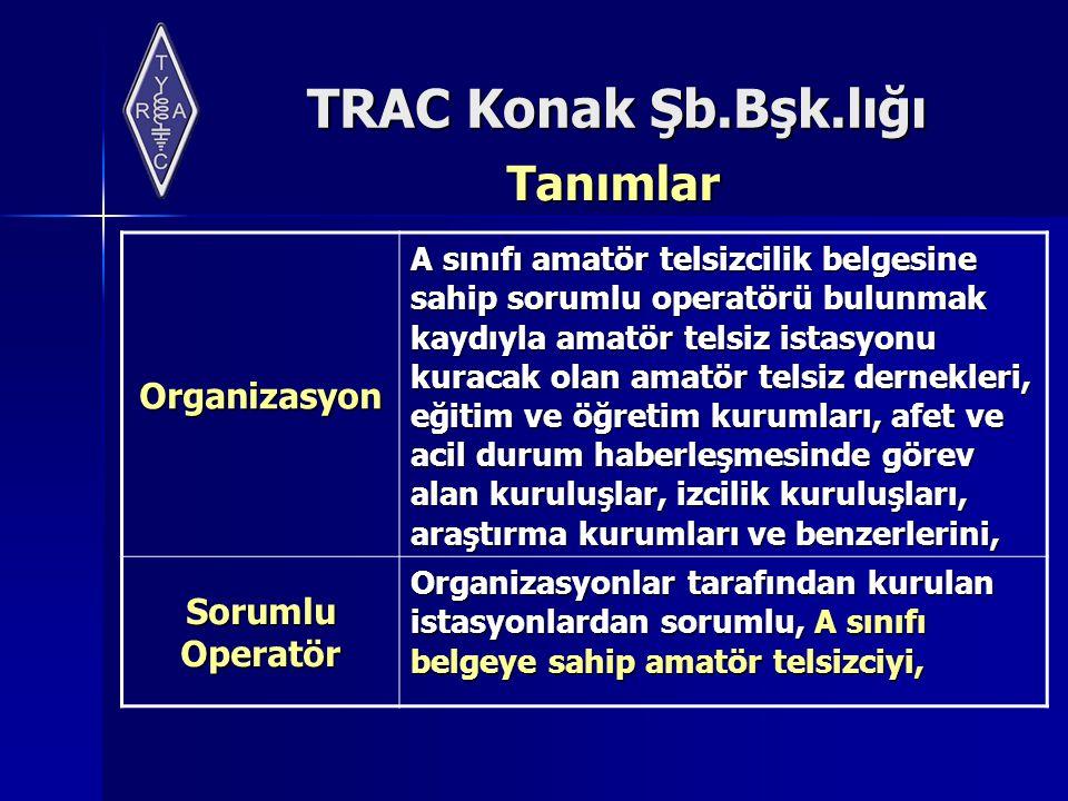 Tanımlar Organizasyon Sorumlu Operatör