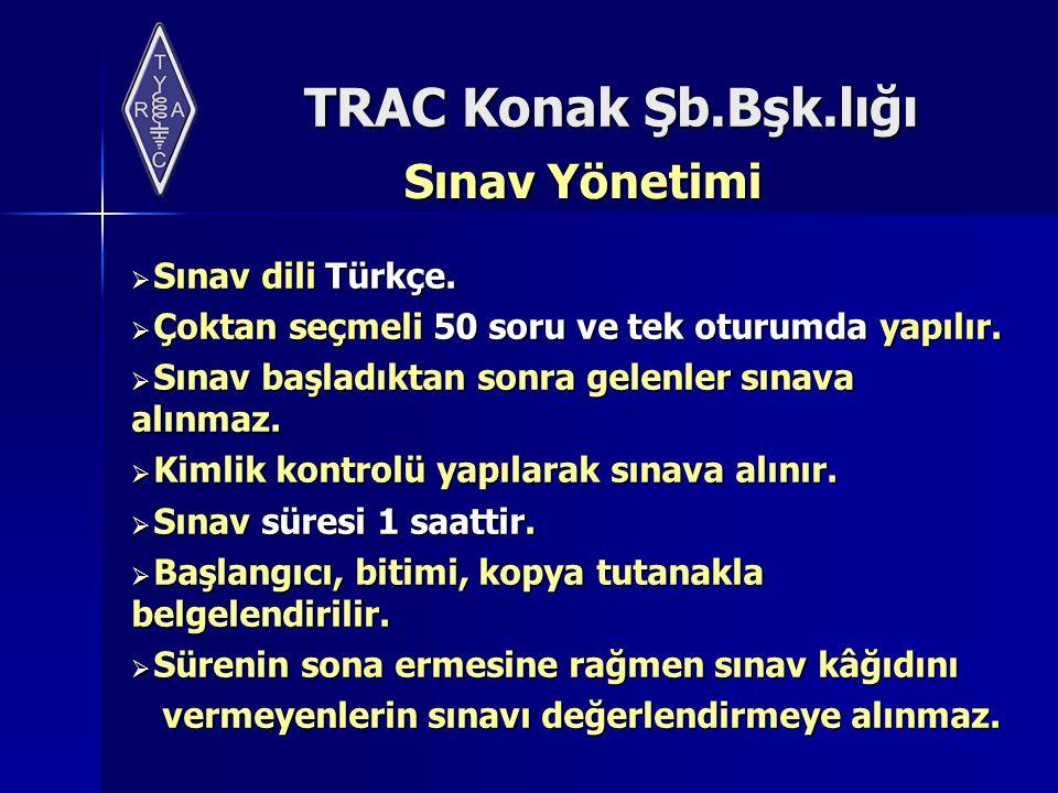 Sınav Yönetimi Sınav dili Türkçe.