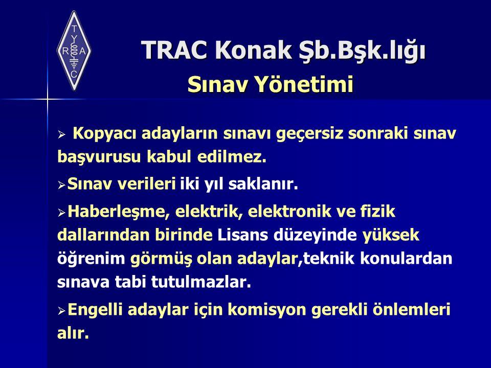 Sınav Yönetimi Kopyacı adayların sınavı geçersiz sonraki sınav başvurusu kabul edilmez. Sınav verileri iki yıl saklanır.