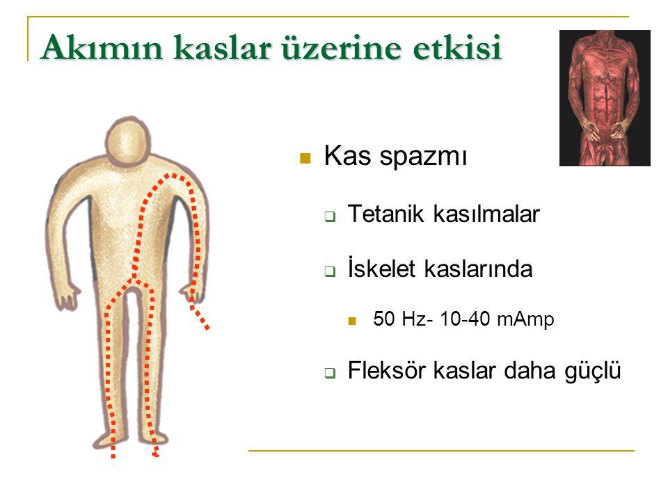 Akımın kaslar üzerine etkisi
