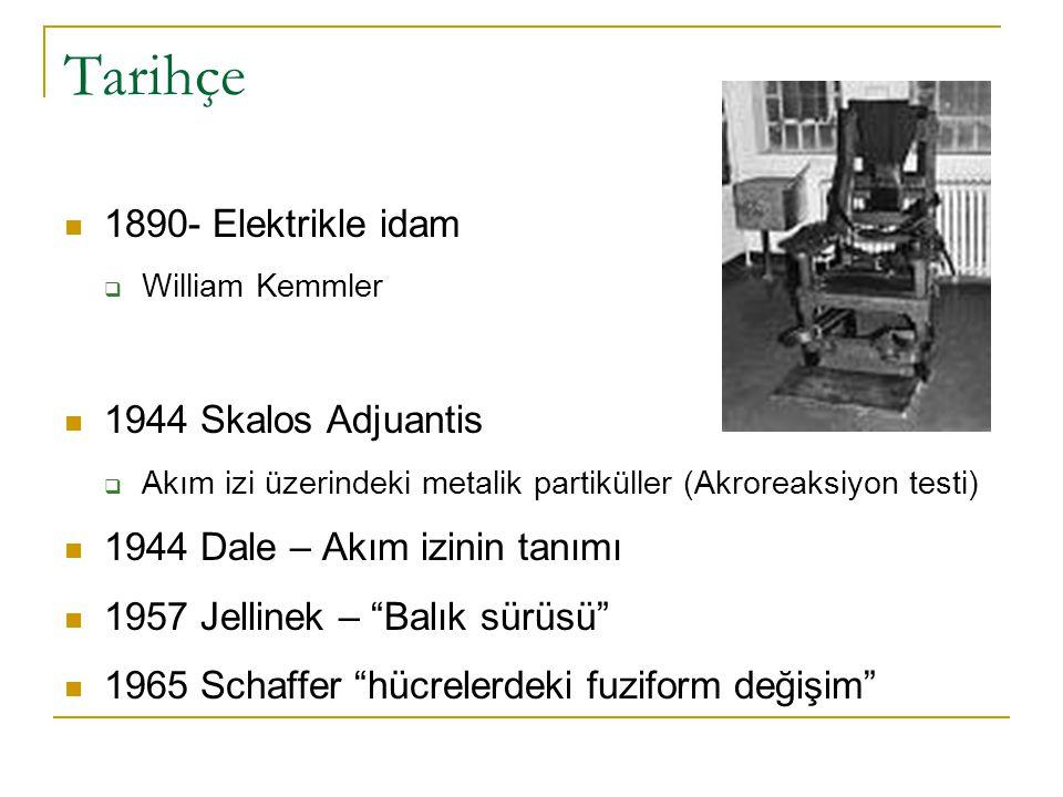 Tarihçe 1890- Elektrikle idam 1944 Skalos Adjuantis