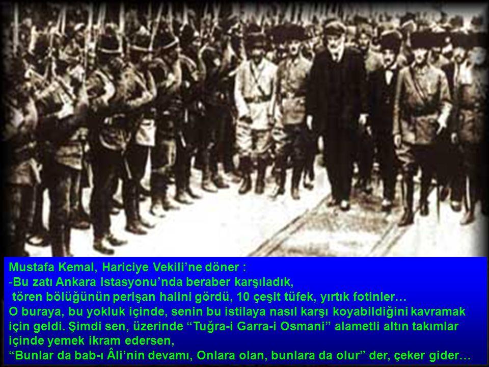 Mustafa Kemal, Hariciye Vekili'ne döner :