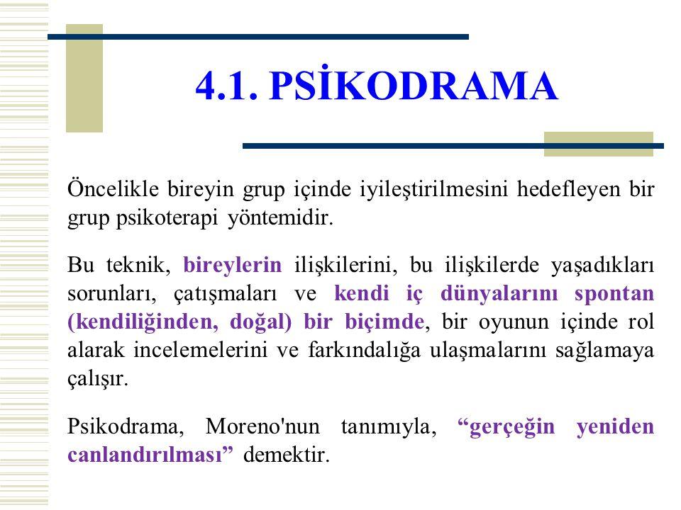 4.1. PSİKODRAMA