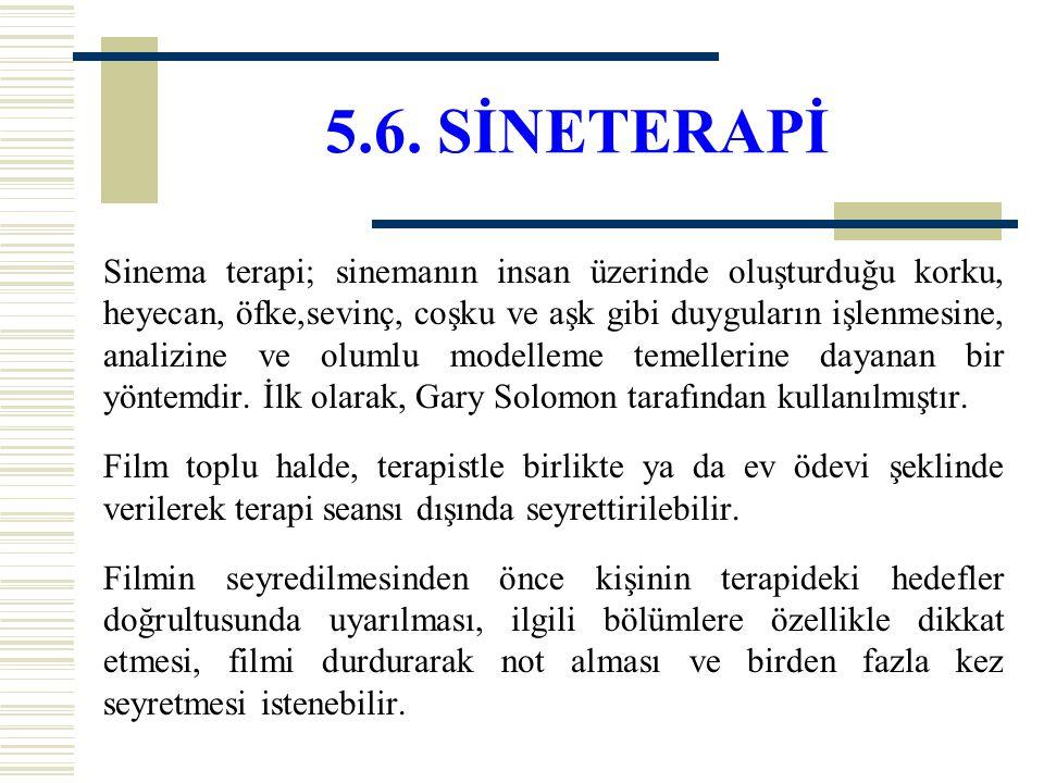 5.6. SİNETERAPİ