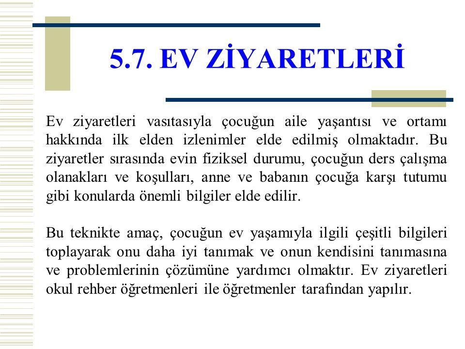 5.7. EV ZİYARETLERİ