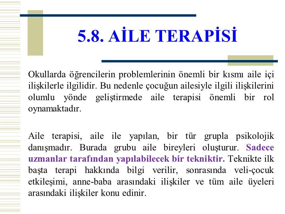 5.8. AİLE TERAPİSİ
