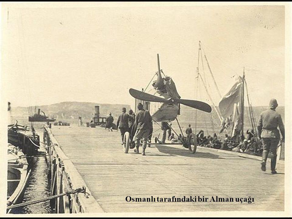 Osmanlı tarafındaki bir Alman uçağı