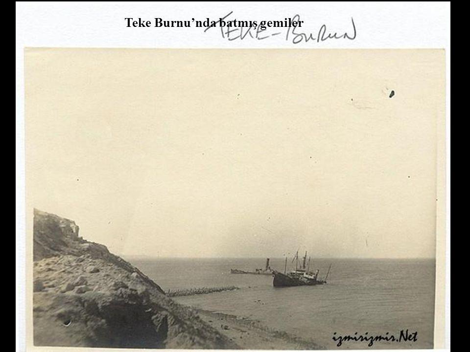 Teke Burnu'nda batmış gemiler