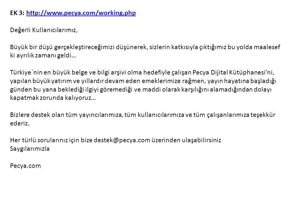 EK 3: http://www.pecya.com/working.php