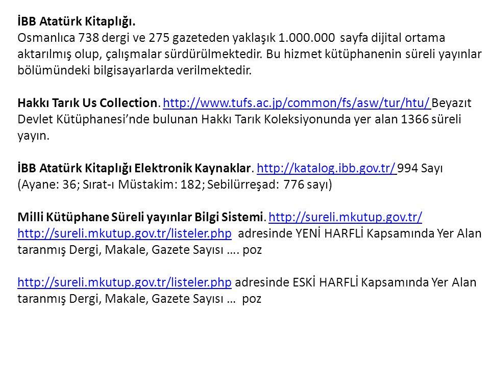 İBB Atatürk Kitaplığı.