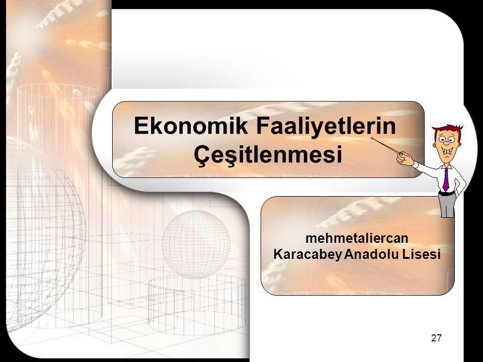 Ekonomik Faaliyetlerin Karacabey Anadolu Lisesi