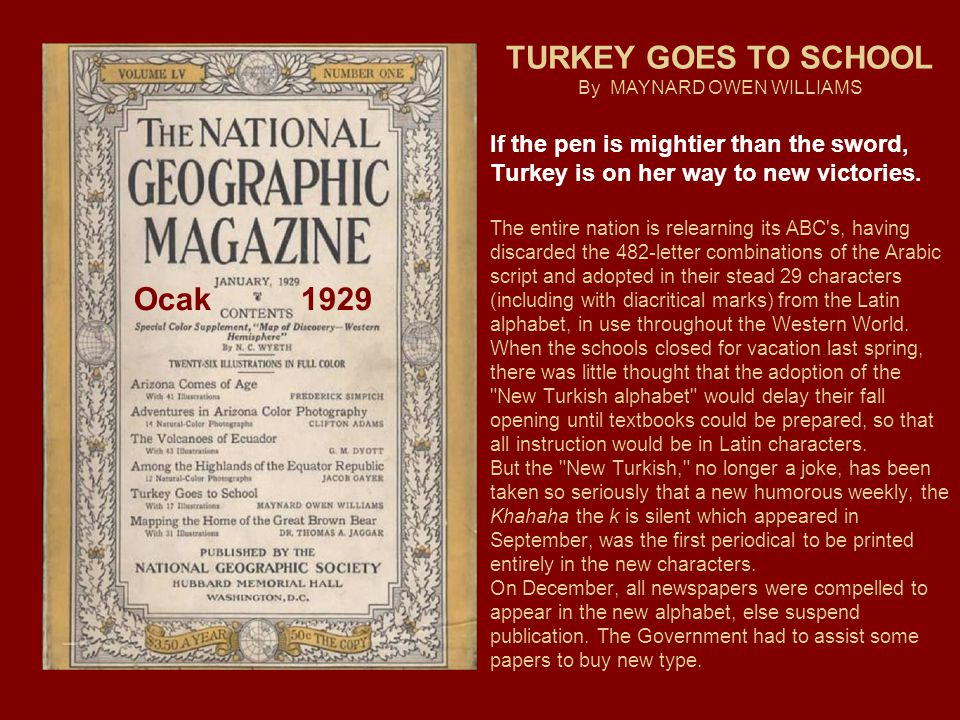 TURKEY GOES TO SCHOOL By MAYNARD OWEN WILLIAMS