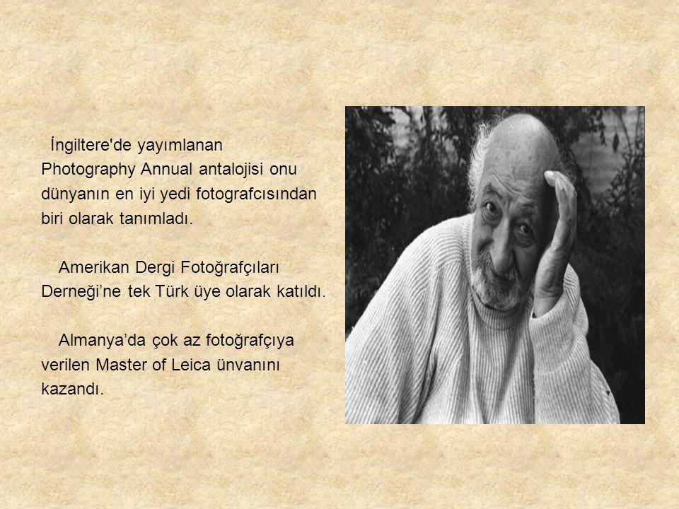 İngiltere de yayımlanan Photography Annual antalojisi onu dünyanın en iyi yedi fotografcısından biri olarak tanımladı.