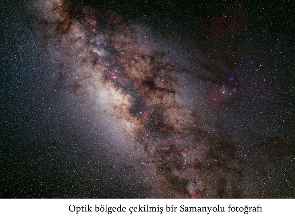 Optik bölgede çekilmiş bir Samanyolu fotoğrafı