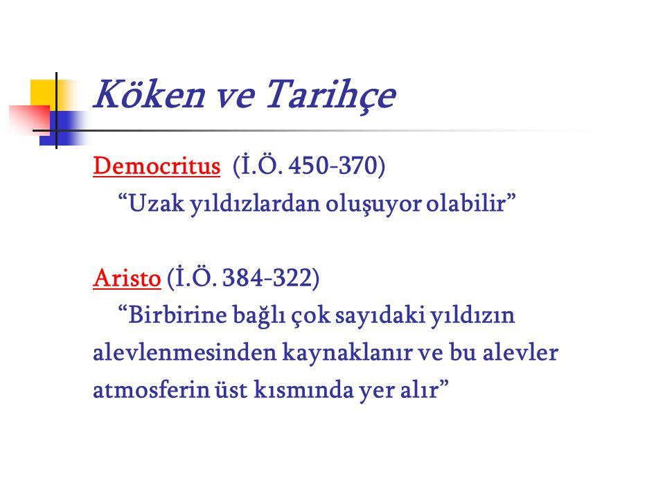 Köken ve Tarihçe Democritus (İ.Ö. 450-370)