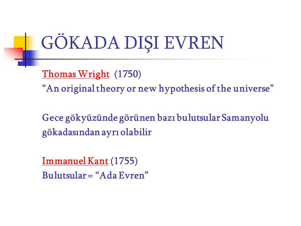 GÖKADA DIŞI EVREN Thomas Wright (1750)