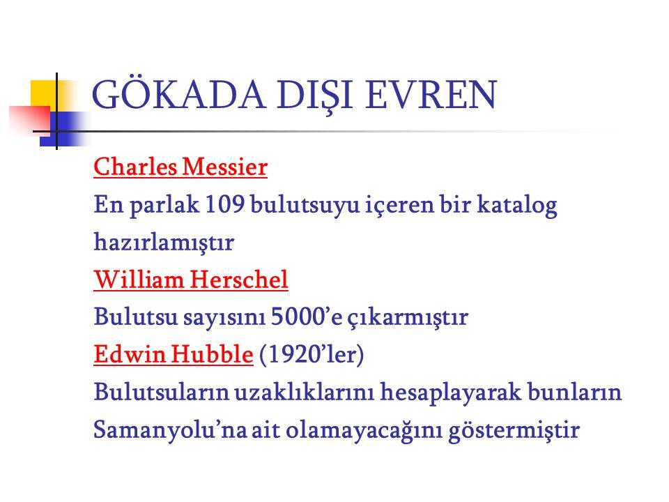 GÖKADA DIŞI EVREN Charles Messier
