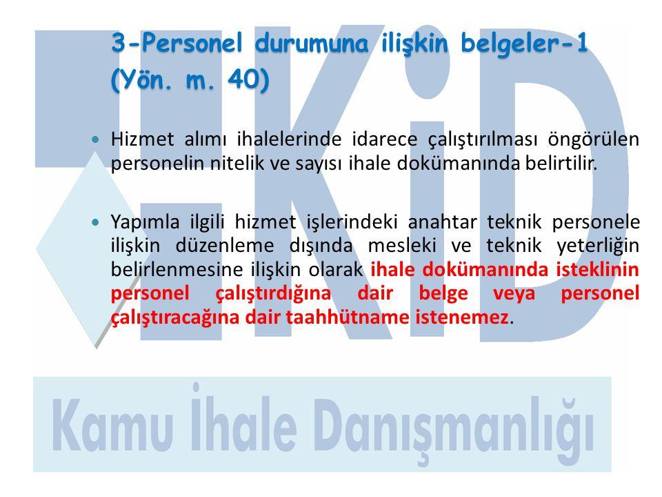 3-Personel durumuna ilişkin belgeler-1 (Yön. m. 40)