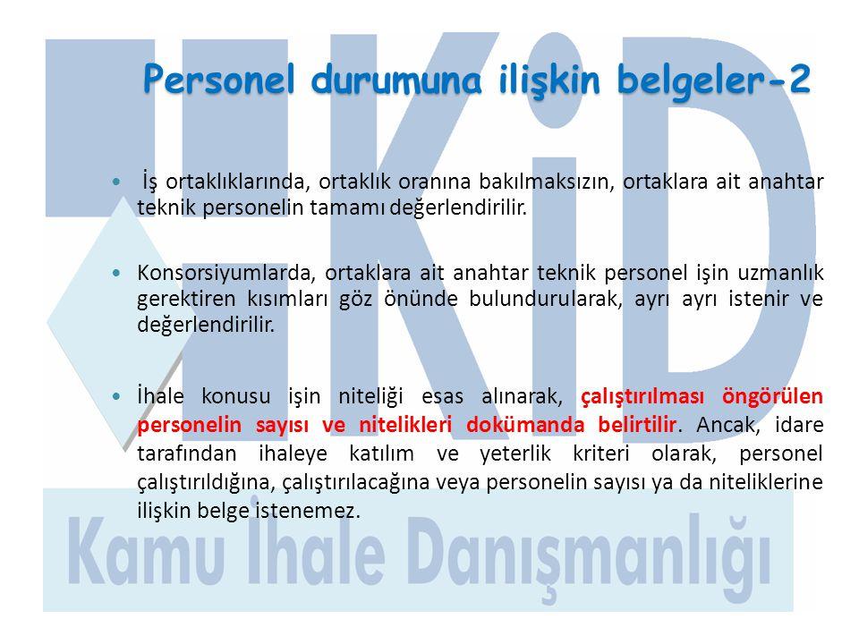 Personel durumuna ilişkin belgeler-2
