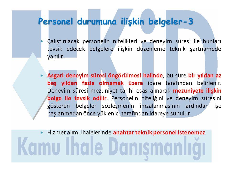 Personel durumuna ilişkin belgeler-3