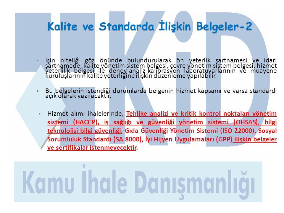 Kalite ve Standarda İlişkin Belgeler-2